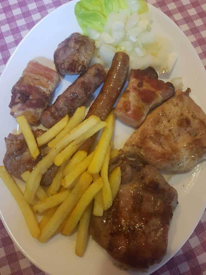 Mesano meso sa rostilja